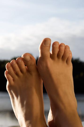 Jag bjuder på en bild på mina fötter ;)