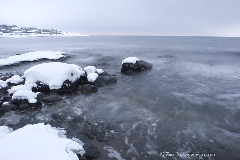 Snö, hav och blåst