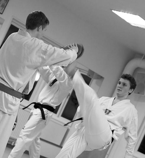 Fotat på en av våra tae kwon do-träningar