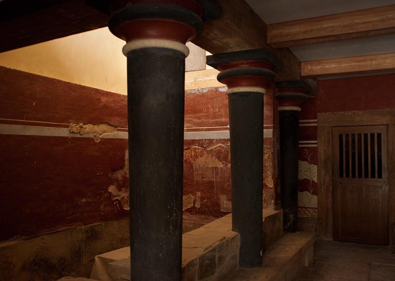Återskapad interiör - Knossos
