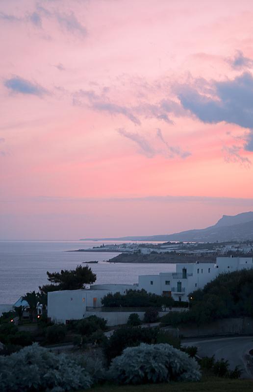 Solnedgång på Kreta