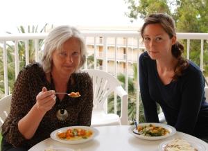 Första middagen på Mallorca