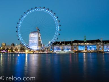 Themsen och London Eye