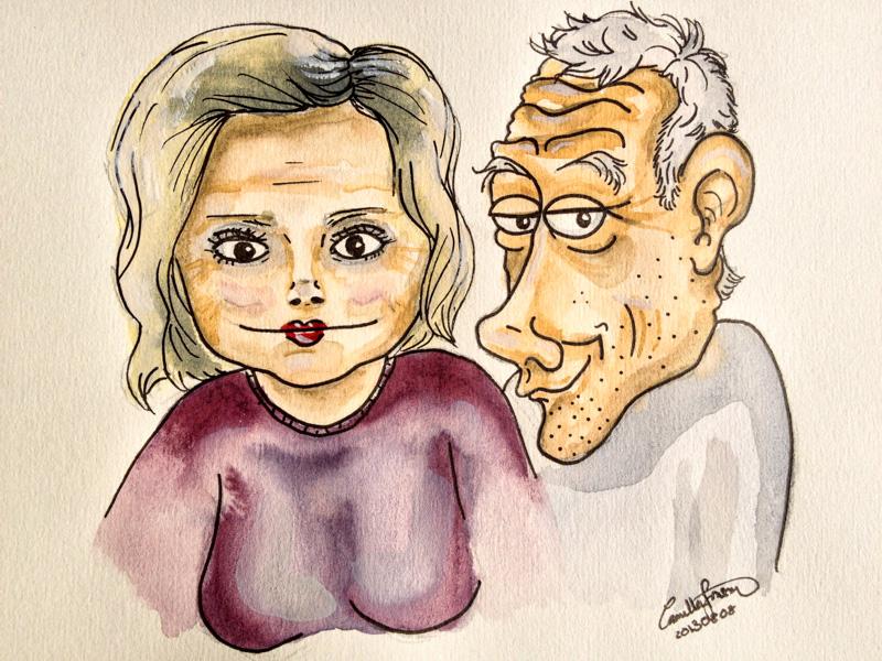 Föräldrarna i akvarell