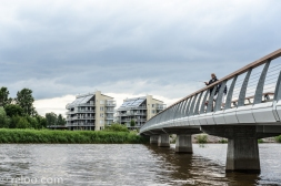 Bro och fiskande i Mariestad