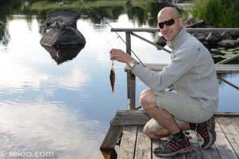 Fiske i ån i Sundborn
