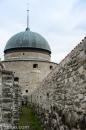 Vadstena - Vadstena Slott innanför försvarsmurarna