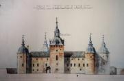 Skiss på Kalmar Slott