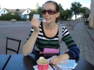 Ätande av Karlskronas egna glass