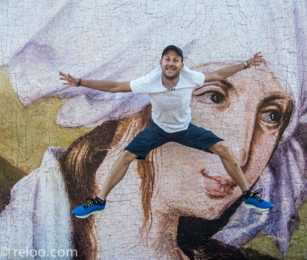 Konstutställning utomhus i Barcelona