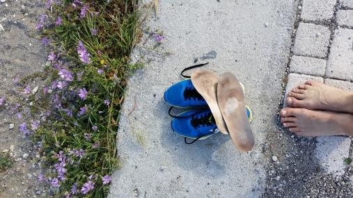 Ett par blöta skor