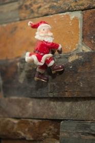 En jultomte som klättrade ner