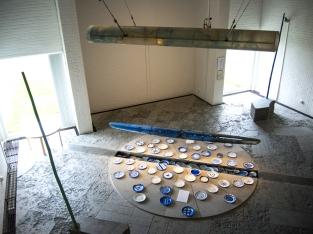 Båt av glas i Vänermuseet i Lidköping