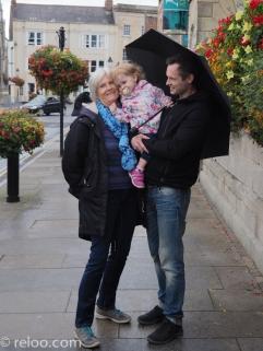 Glastonbury - Mamma, bror och brorsdotter