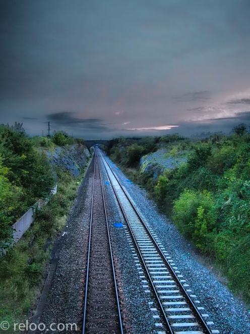 En järnväg
