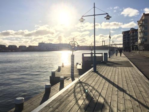 Promenad längs Eriksberg