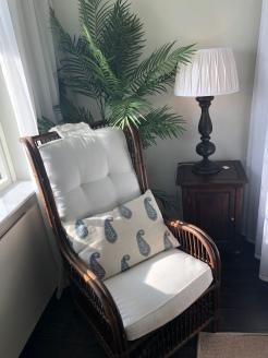 Vårt sovrum med havsutsikt