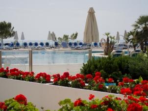 Utsikt över hotellets pool