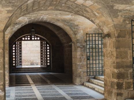 Nedanför katedralen i Palma
