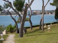 Promenad från hotellet till stranden i Palmanova