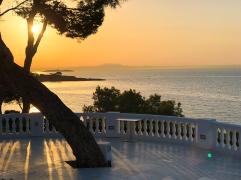 Solnedgång vid hotellet Ponent Mar