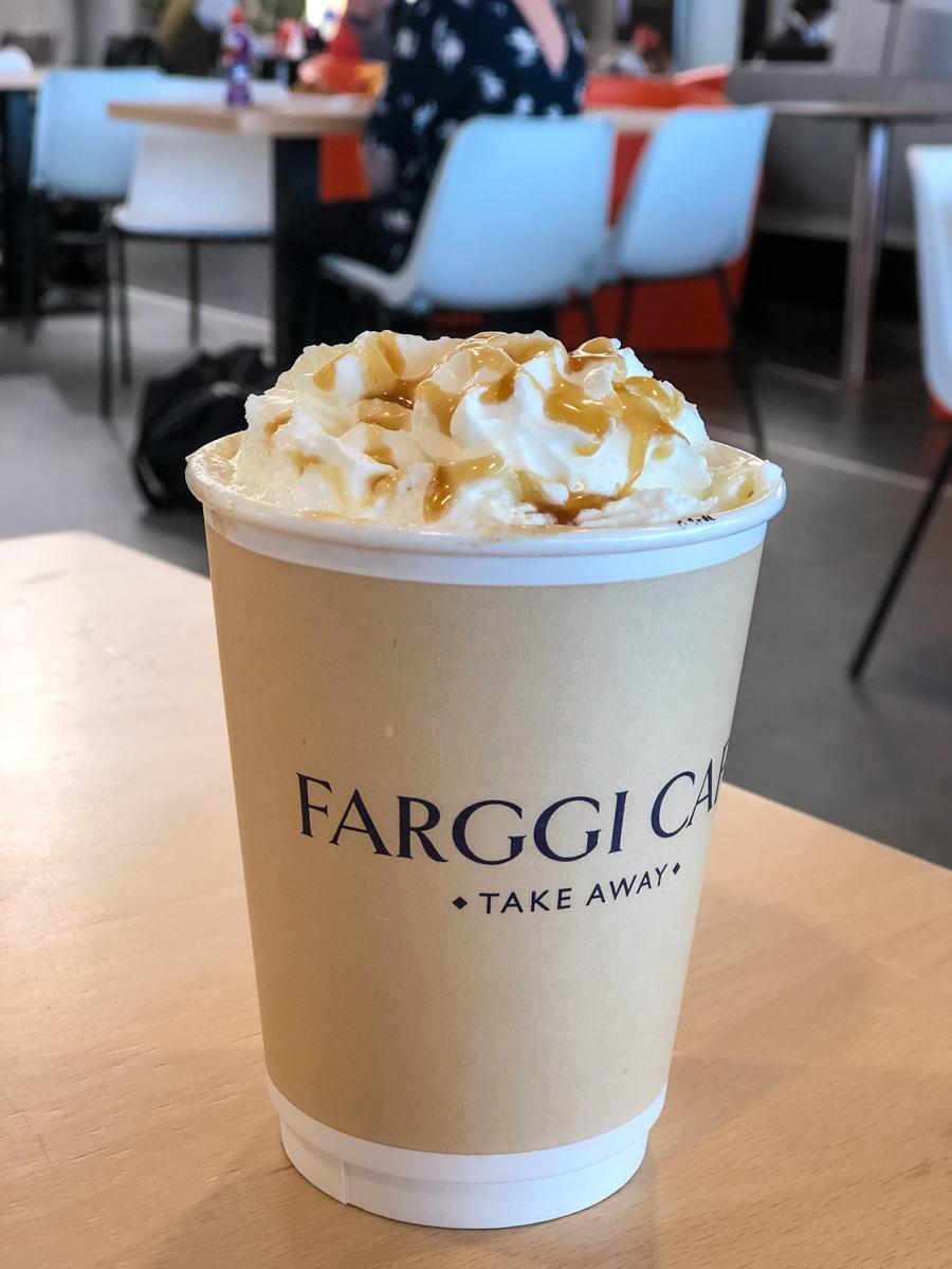 Specialkaffe på flygplatsen